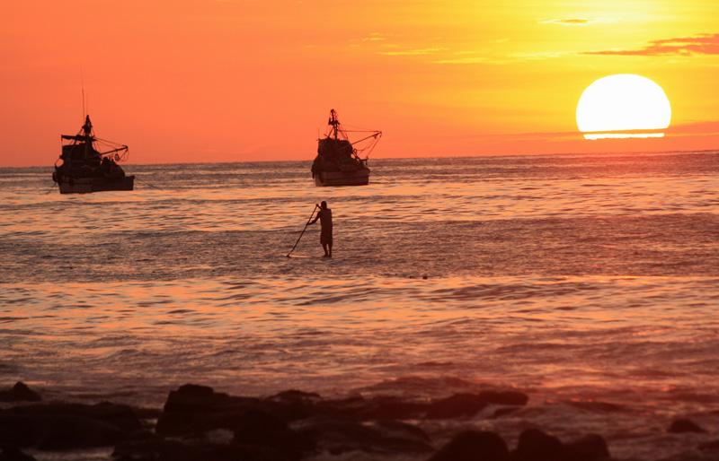 Perou - sunset bateau