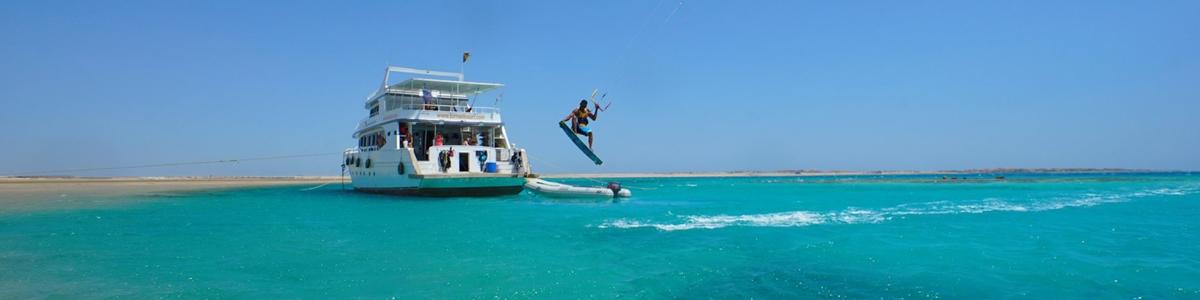 bateau de kitesurf en Egypte