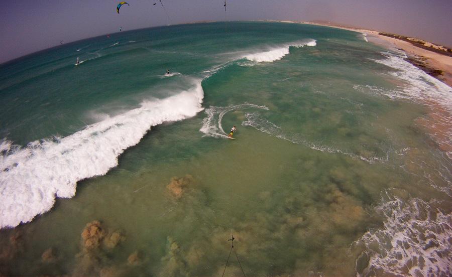 Séjour kitesurf spécial wave riding au Cap vert, janvier 2015