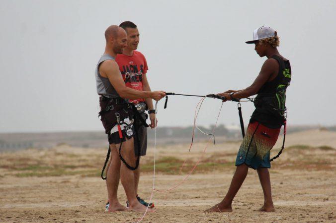 école de kitesurf au cap vert initiation