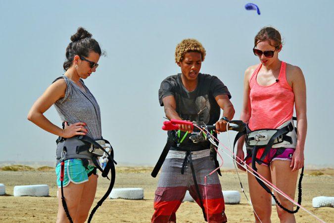 kite trip au cap vert cours de kite