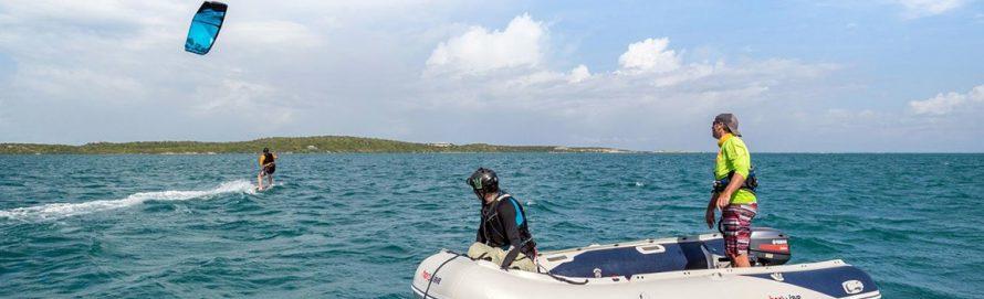cours de kitesurf en pleine eau